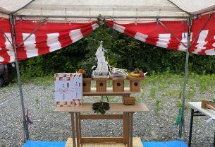 豊川市にて地鎮祭